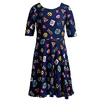 Girls 7-16 & Plus Size Emily West Emoji Reversible Dress