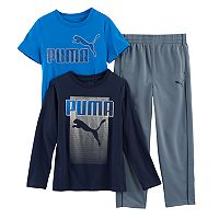 Boys 4-7 PUMA 3-pc. Graphic Tees & Pants Set