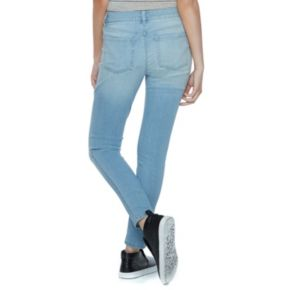 Juniors' SO® Ripped High Waist Ankle Jeggings