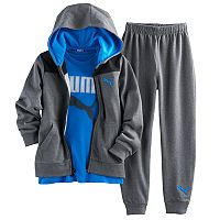 Boys 4-7 PUMA 3-pc. Zip Hoodie, Graphic Tee & Pants Set
