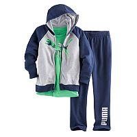Boys 4-7 PUMA 3-pc. Zip Hoodie, Graphic Tee & Pants Set