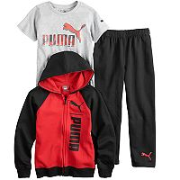 Boys 4-7 PUMA 3 pc Zip Hoodie, Graphic Tee & Pants Set