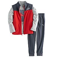 Boys 4-7 PUMA 3-pc. Vest, Graphic Tee & Pants Set