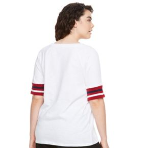 madden NYC Juniors' Plus Size Patch Sweatshirt