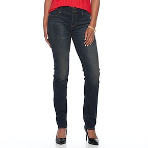 Women's Apt. 9 Tummy Control Curvy Midrise Straight-Leg Jeans
