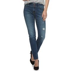 Women's Apt. 9® Tummy Control Curvy Midrise Straight-Leg Jeans