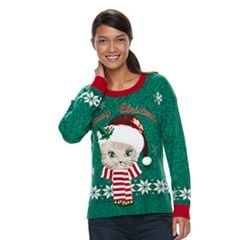 Women's Embellished Christmas Sweater
