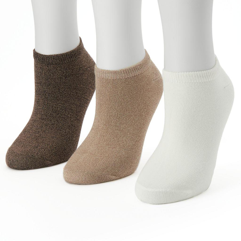 Women's SONOMA Goods for Life™ 3-pk. Marled No-Show Socks