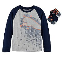 Boys 4-7 PUMA 2-pc. Raglan Graphic Tee & Performance Socks Set