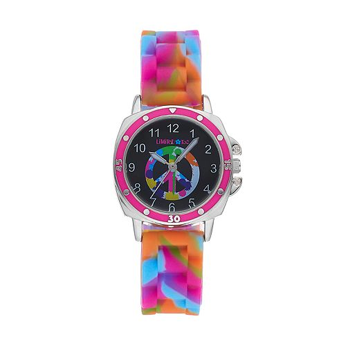 Limited Too Kids' Rainbow Peace Symbol Watch