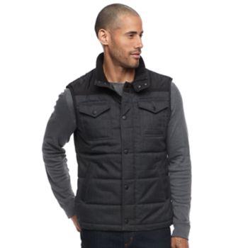 Men's Apt. 9® Colorblock Flex Quilted Puffer Vest