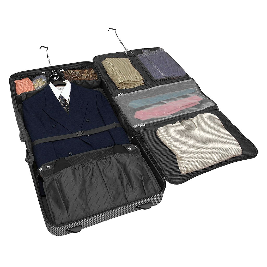 London Fog Cambridge 360 Wheeled Garment Bag