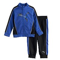 Toddler Boy PUMA Logo Zip-Front Jacket & Pants Set