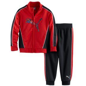 Toddler Boy PUMA Logo Zip-Front Jacket & Pants Set