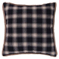 Levtex Lodge Plaid Faux Fur Trim Throw Pillow