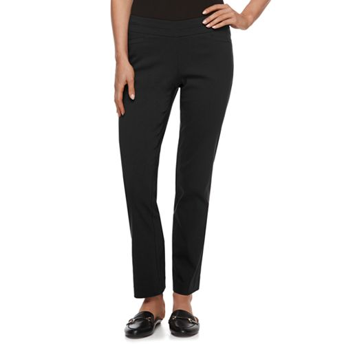 Petite Apt. 9® Brynn Pull-On Straight-Leg Dress Pants