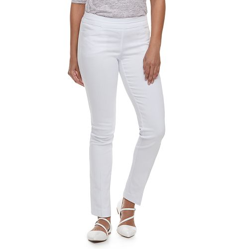 Petite Apt. 9® Brynn Pull-On Straight-Leg Dress Pants
