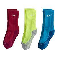 Boys Nike 3-Pack Crew Socks