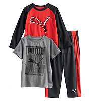 Toddler Boy PUMA 3-pc. Long Sleeve Tee, Short Sleeve Tee & Pants Set