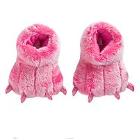 Girls 4-16 Faux-Fur Dragon Feet Moccasin Slippers