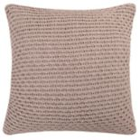 Levtex Lodge Taupe Textured Knit Throw Pillow