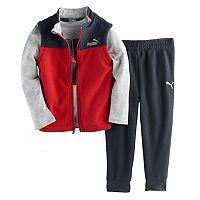 Toddler Boy PUMA 3-pc. Vest, Graphic Tee & Pants Set