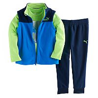 Toddler Boy PUMA 3-pc. Vest, Graphic Tee & Pants Set