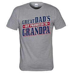 Men's 'Great Dads Get Promoted To Grandpa' Tee