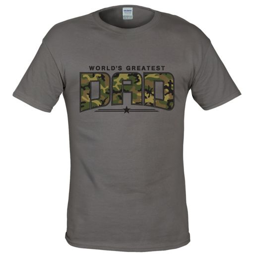 "Men's Camo ""World's Greatest Dad"" Tee"
