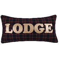 Levtex Lodge ''Lodge'' Plaid Oblong Throw Pillow