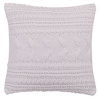 Levtex Lodge White Textured Knit Throw Pillow