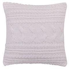 Levtex Lodge White Textured Knit Throw Pillow
