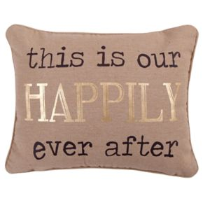 Levtex Lodge ''Happily Ever After'' Oblong Throw Pillow