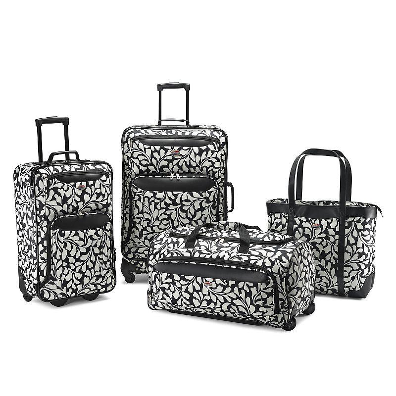 American Tourister Valencia 4-Piece Luggage Set, Black