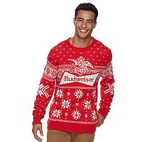 Men's Snowflake Ugly Christmas Sweater
