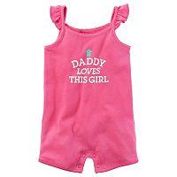 Baby Girl Carter's Family Slogan Romper