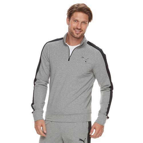 Men's PUMA StretchLite Slim-Fit Performance Quarter-Zip Pullover
