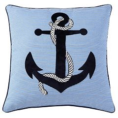 VCNY Anchor Embroidered Throw Pillow