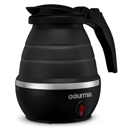 Gourmia Collapsible Electric Tea Kettle with Boil Dry Protection