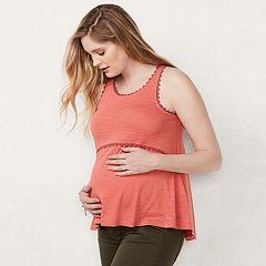 Maternity LC Lauren Conrad Crochet Tank