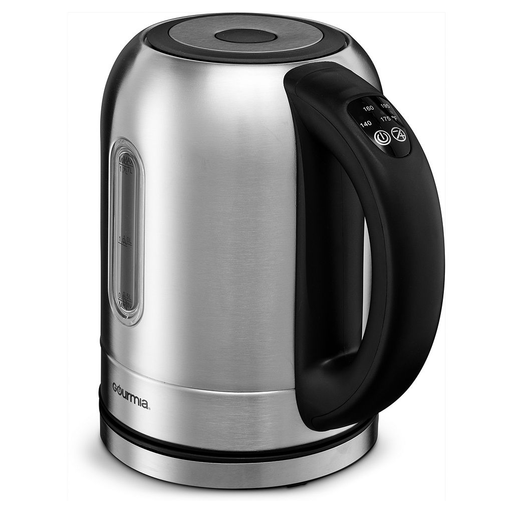 Gourmia Color Changing LED Stainless Steel Electric Tea Kettle