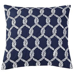 VCNY Montauk Rope Embroidered Throw Pillow