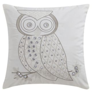 VCNY Owl Crystals Throw Pillow