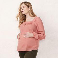 Maternity LC Lauren Conrad Pintuck Peasant Top