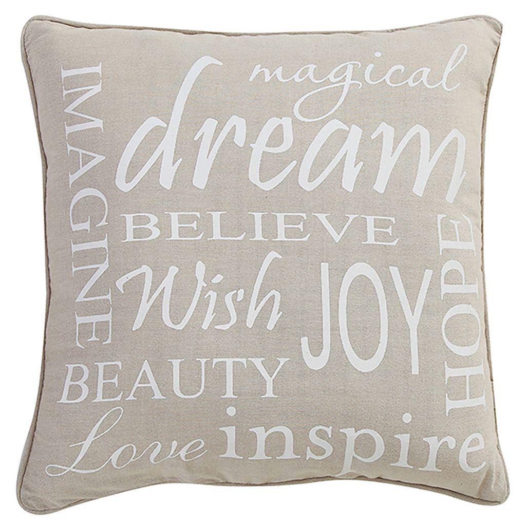 VCNY Inspiring Words Throw Pillow