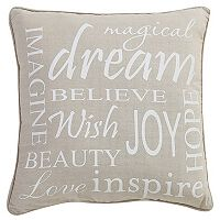 VCNY Inspiring Words Throw Pillow