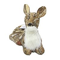 St. Nicholas Square® Faux-Fur Sitting Deer Floor Decor