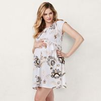 Maternity LC Lauren Conrad Pleated Fit & Flare Dress