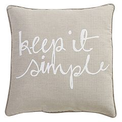 VCNY ''Keep It Simple'' Throw Pillow