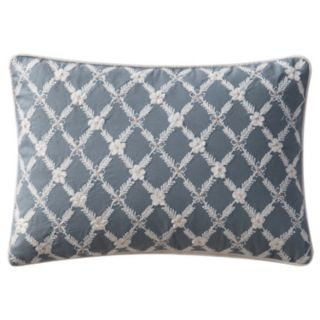 VCNY Posey Floral Lattice Embroidered Oblong Throw Pillow